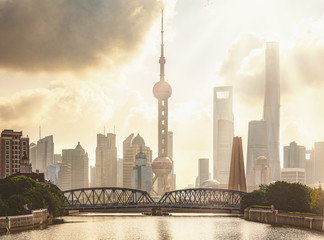 Wall Mural - morning time in shanghai city