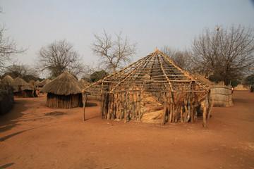 tradycyjne afrykańskie chaty