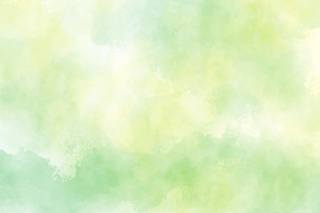 yellow and green watercolor background for spring