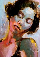 Sleeping woman portrait