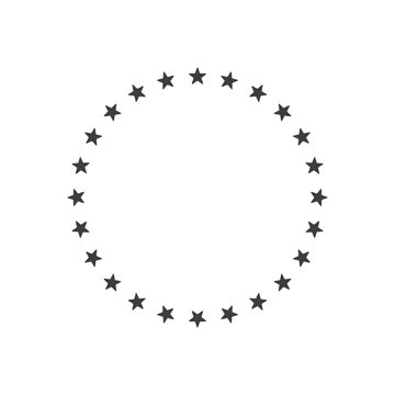 Stars in circle icon. Frame from stars isolated on white background. Vector design element for graphic and web design. EPS 10.