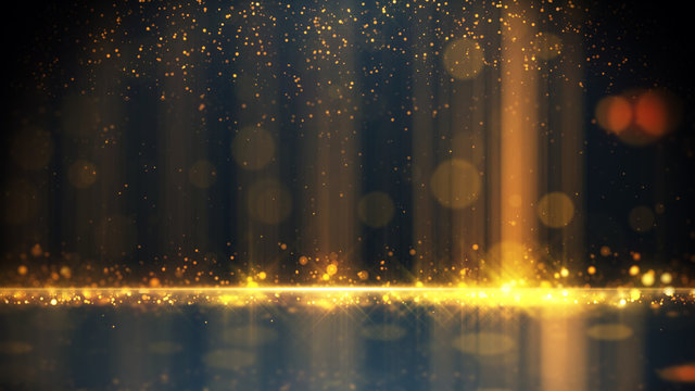 Gold Particle Glitter Luxury Background