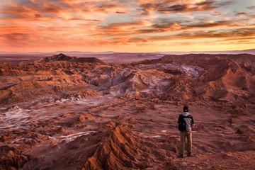 Fotorolgordijn Diepbruine Red planet or earth?