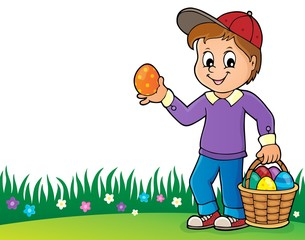 Poster For Kids Boy with Easter eggs theme image 2