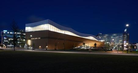 Helsinky Finland: 08-13-2019 Oodi, central library Helsinki