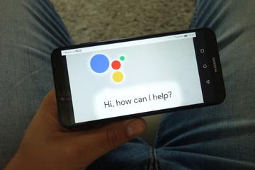 KONSKIE, POLAND - June 29, 2019: Google Assistant logo on mobile phone