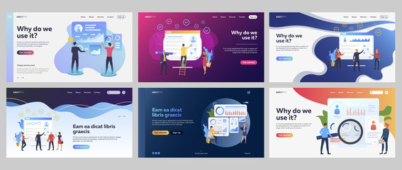 Recruit agents set. Recruiters choosing candidates, analyzing graphs, checklists. Flat vector illustrations. Personnel selection, recruitment concept for banner, website design or landing web page