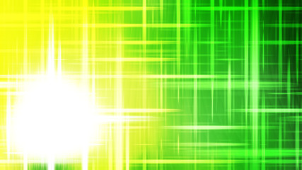 Wall Mural - Futuristic Glowing Green Yellow and White Light Lines Stripes Background Image