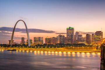 Fototapete - St. Louis, Missouri, USA Skyline