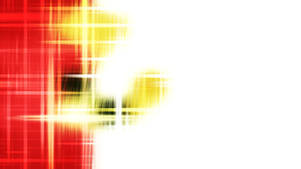 Wall Mural - Red White and Yellow Futuristic Glowing Light Stripes Background
