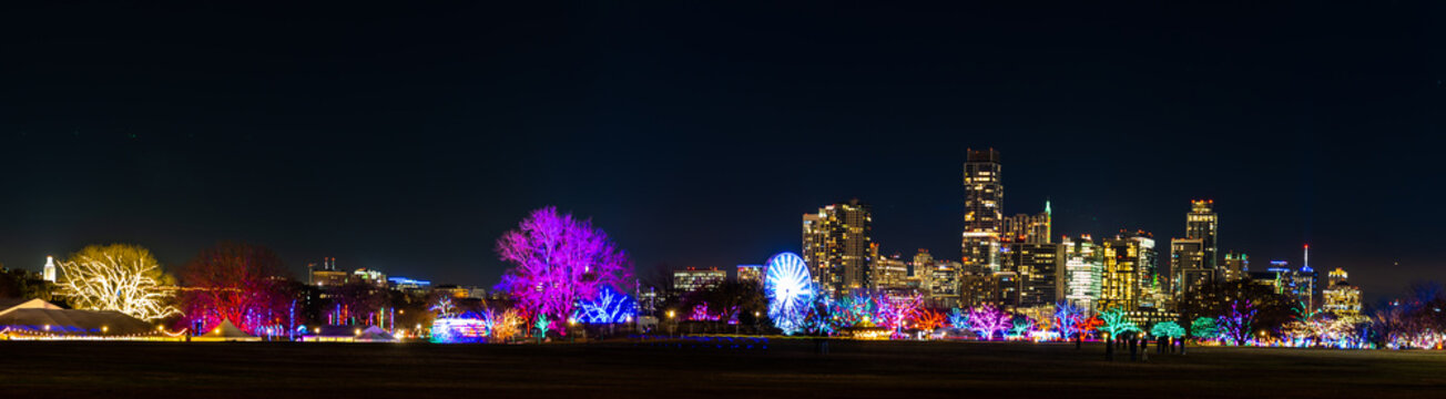 The skyline in the city of Austin.