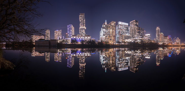 Downtown Austin sits on the banks of Lady Bird Lake.