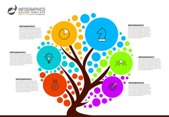 Wall Mural - Infographic design template. Creative concept with 6 steps