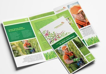 Trifold Layout for Gardening Landscape Services