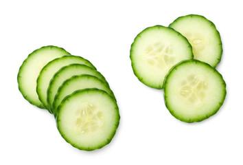 Cucumber Slice Isolated On White Background