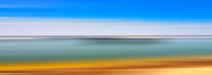 Abstract line de-focus soft horizontal background. Digital illustration.