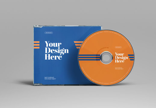 CD/DVD and Case Mockup