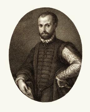 Niccolo Machiavelli, restored reproduction of a print by Morghen, Raffaello, 1761-1833