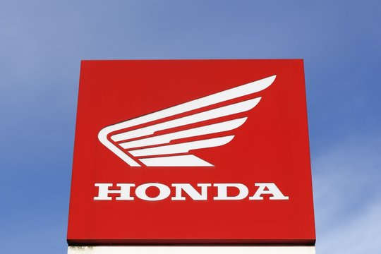 Villefranche, France - January 29, 2017: Honda is a Japanese public multinational corporation primarily known as a manufacturer of automobiles, motorcycles and power equipment