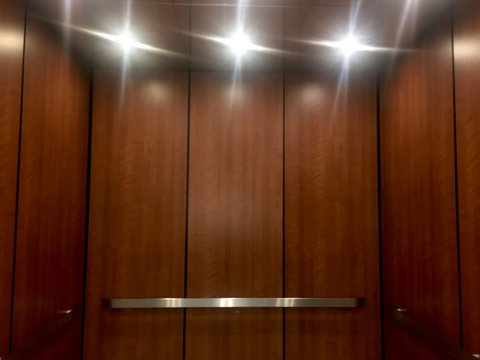 The interior of an elevator