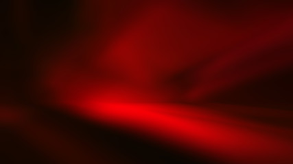 Fotobehang - perspective floor backdrop red room studio with light red gradient spotlight backdrop background for display your product or artwork