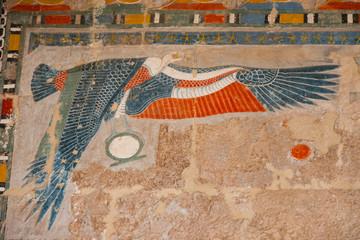 Egyptian hieroglyph in Luxor, Egypt