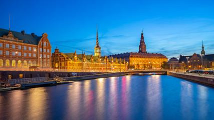 Christiansborg Palace in Copenhagen city, Denmark