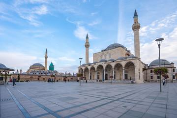 Konya city with landmark buildings in city center of Konya, Turkey