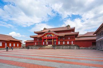 Shuri castle the famous place of Naha, Okinawa prefecture, Japan