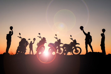 Summit successes of the young motorcyclist group organizing social events