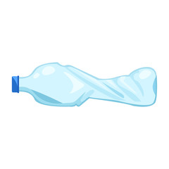 Realistic picture of a plastic bottle