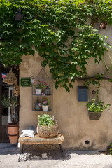 Ansouis France July 14th 2015 : An exterior display found in a shop in Ansouis, Provence, France