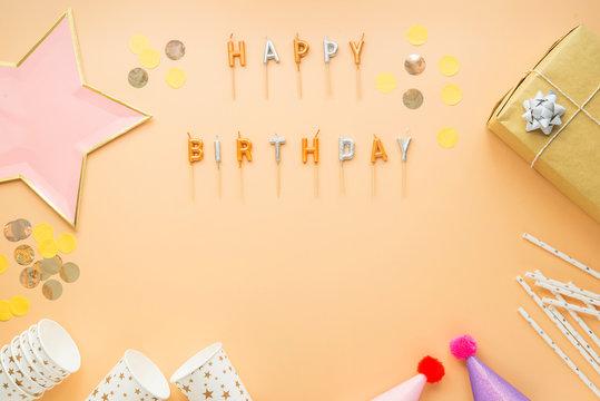 party celebration happy birthday frame