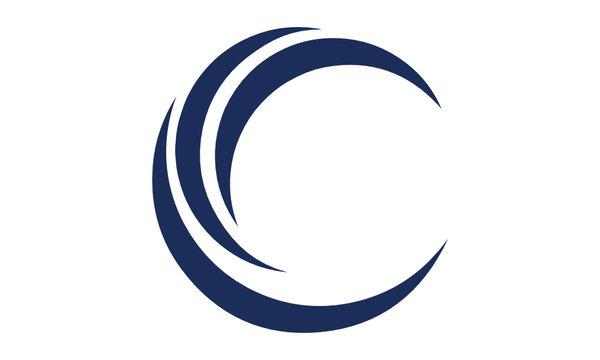 C logo shape letter moon