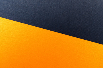 Blue and orange paper texture background. Place for text. Two tones. Background for presentation.