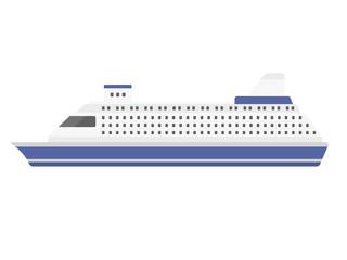 クルーズ船のイラスト