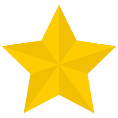 Flat golden star icon isolated on a white background. EPS10 vector file