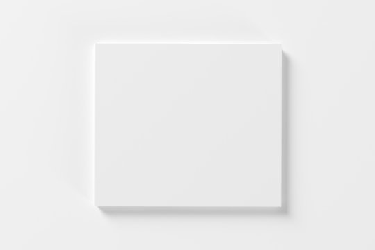 Blank white compact disk cover isolated on white