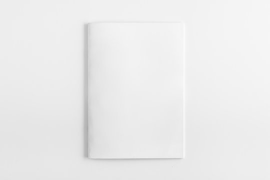 Blank Square Magazine with soft shadows isolated on white as template for designers presentation, showcase etc.