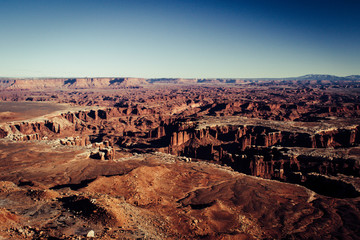 Picture of the Grand Canyon sunset at Lipan point, with the colorado river in the background