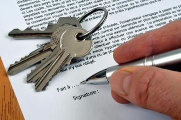 Signature du contrat de location