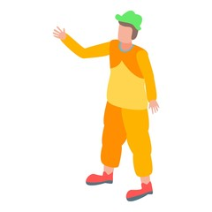 Circus clown icon. Isometric of circus clown vector icon for web design isolated on white background
