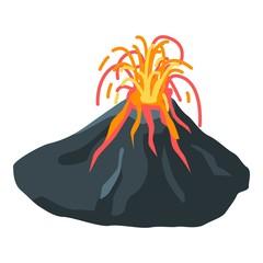 Danger volcano icon. Isometric of danger volcano vector icon for web design isolated on white background