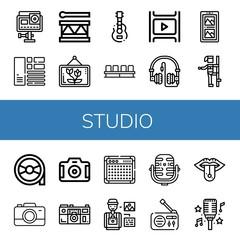studio icon set