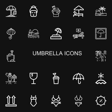 Editable 22 umbrella icons for web and mobile