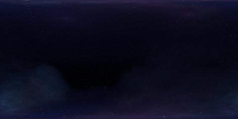 Fototapete - 360 degree HDRI space background and nebula. Environment 360 HDRI map. Equirectangular projection, spherical panorama
