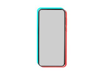 Fototapeta Tik tok application mockup on non branded smartphone screen. Picture blank (template) interface. obraz