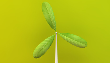 leaf windmill eco concept