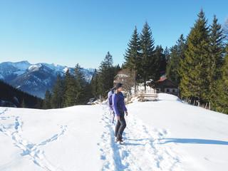 Winterwanderung in Bayern auf den Breitenstein