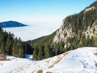 Winterwandern in Bayern - Wolkenmeer
